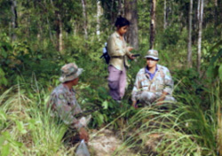 Salakpra's rangers help conduct forest surveys
